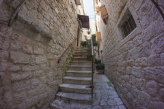 Street view in old town Trogir Royalty Free Stock Photography