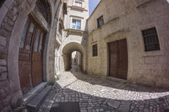 Street view in old town Trogir Stock Photos