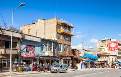 Street view with ordinary building facades, Izmir Royalty Free Stock Images