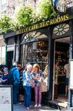 Street view over Bettys Tea Rooms, York, England Royalty Free Stock Image