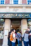 Street view over Bettys Tea Rooms, York, England Stock Photo