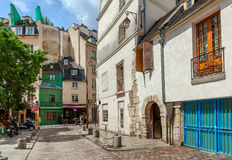 Street view in Paris, France. Royalty Free Stock Photography
