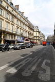 Street view in paris,france Royalty Free Stock Images