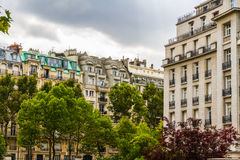 Street view, Paris. Royalty Free Stock Photography