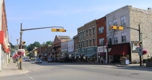 Street view from Paris, Ontario, Canada 4K stock footage
