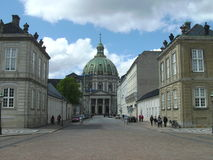Street View, Parliament and Royal Palace Area, Copenhagen, Denmark Royalty Free Stock Photo