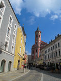 Street view in Passau, Bavaria, Germany Stock Photos