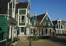 Street view from the past in Holland. A typical street view, in the historical area in the Netherlands, Holland the zaanse Schans Royalty Free Stock Photography