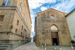 Street view in Pienza, Italy Stock Photo