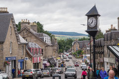 Street view of Pitlochry, Scotland Royalty Free Stock Images