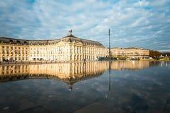 Street view of Place De La Bourse in Bordeaux city Stock Photo