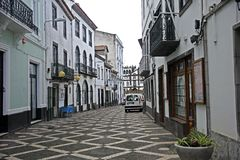 Street view in Ponta Delgada, Azores islands Stock Images