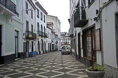 Street view in Ponta Delgada, Azores islands Stock Images