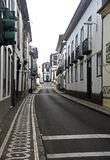 Street view in Ponta Delgada, Azores islands Stock Photography