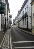 Street view in Ponta Delgada, Azores islands Stock Photography