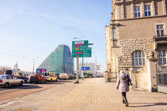 Street view in Poznan Royalty Free Stock Photos