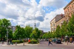 Street view in Prenzlauer Berg, Berlin Stock Image