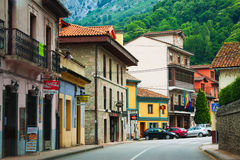 Street view of Proaza.  Asturias Stock Image