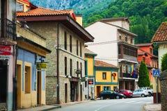 Street view of Proaza.  Asturias, Spain Stock Image