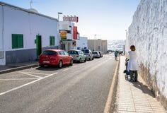 Street view in Puerto del Carmen, Lanzarote Stock Photo