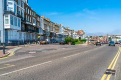 Street view in Ramsgate, Kent. RAMSGATE, KENT, UK - JUNE 03, 2018: Street view in Ramsgate, a seaside town in Thanet district in east Kent. Ramsgate's main Royalty Free Stock Image