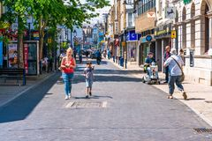 Street view in Ramsgate. RAMSGATE, KENT, UK - JUNE 03, 2018: Street view in Ramsgate, a seaside town in Thanet district in east Kent. Ramsgate's main Royalty Free Stock Photography