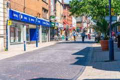 Street view in Ramsgate. RAMSGATE, KENT, UK - JUNE 03, 2018: Street view in Ramsgate, a seaside town in Thanet district in east Kent. Ramsgate's main Royalty Free Stock Photo