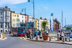 Street view in Ramsgate. RAMSGATE, KENT, UK - JUNE 03, 2018: Street view in Ramsgate, a seaside town in Thanet district in east Kent. Ramsgate's main Stock Image