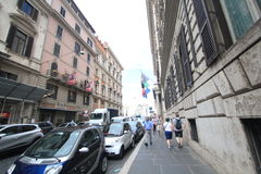 Street view in Rome, Italy Royalty Free Stock Photo