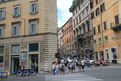Street view in Rome, Italy Royalty Free Stock Image