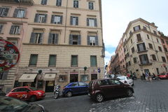 Street view in Rome, Italy Royalty Free Stock Photos