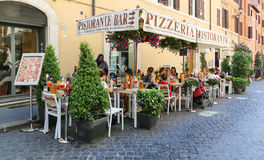 The street view in rome,italy Royalty Free Stock Photos