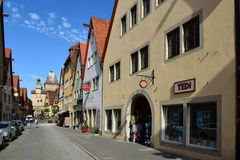Street view in Rothenburg, Germany Royalty Free Stock Images