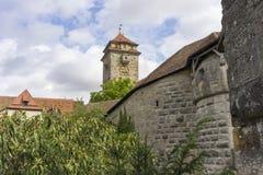 Street view of Rothenburg ob der Tauber. Stock Photos