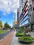 Street view of Rotterdam stock images