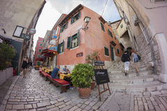 Street view in Rovinj Stock Photo