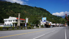 Street view of a rural village located in Hualien, Taiwan Stock Photography