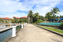 Street view in Sabah, Malaysia Royalty Free Stock Image
