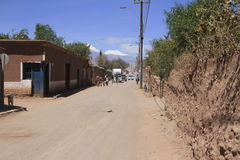 Street view of San Pedro de Atacama, chile Royalty Free Stock Photos