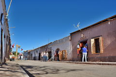 Street view of San Pedro de Atacama. Chile Stock Photography