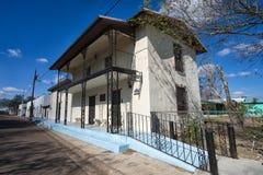 Street view of San Ygnacio Texas. January 12, 2016 San Ygnacio, Texas: street view of the town listed on the National Register of Historic Places as San Ygnacio Stock Photo