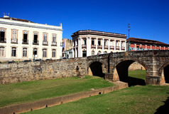 Street view of sao joao del rey minas gerais brazil Royalty Free Stock Photo