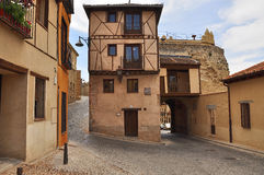 Street view, Segovia old town. Castile, Spain Royalty Free Stock Images