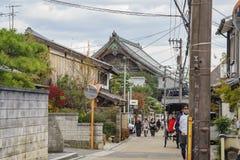 Street view with Seiryo-Ji. Kyoto, NOV 24: Street view with Seiryo-Ji of Seiryo-ji on NOV 24, 2017 at Kyoto Japan Stock Photography