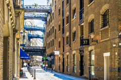 Street View of Shad Thames in London Stock Photos