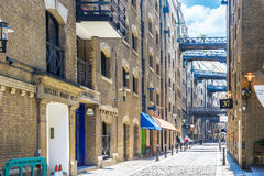 Street View of Shad Thames in London Royalty Free Stock Images