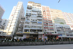 Street view in Sham Shui Po Stock Images