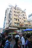 Street view in Sham Shui Po, Hong Kong Stock Image