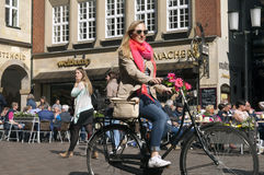 Street view of the shopping street Prinzipalmarkt Stock Photography
