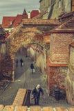 Street view, Sibiu, Romania Royalty Free Stock Images
